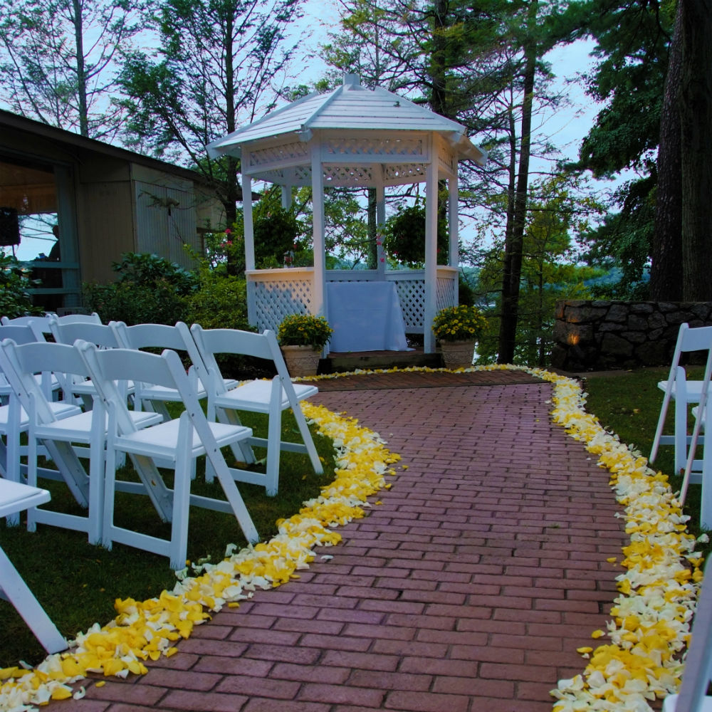 13 - Tree Top Gazebo with petals gallery