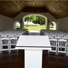 Boat House Chapel Set Up gallery