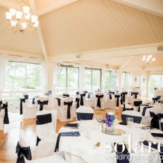 3 - Tree Top Room Wedding Black Sashes gallery