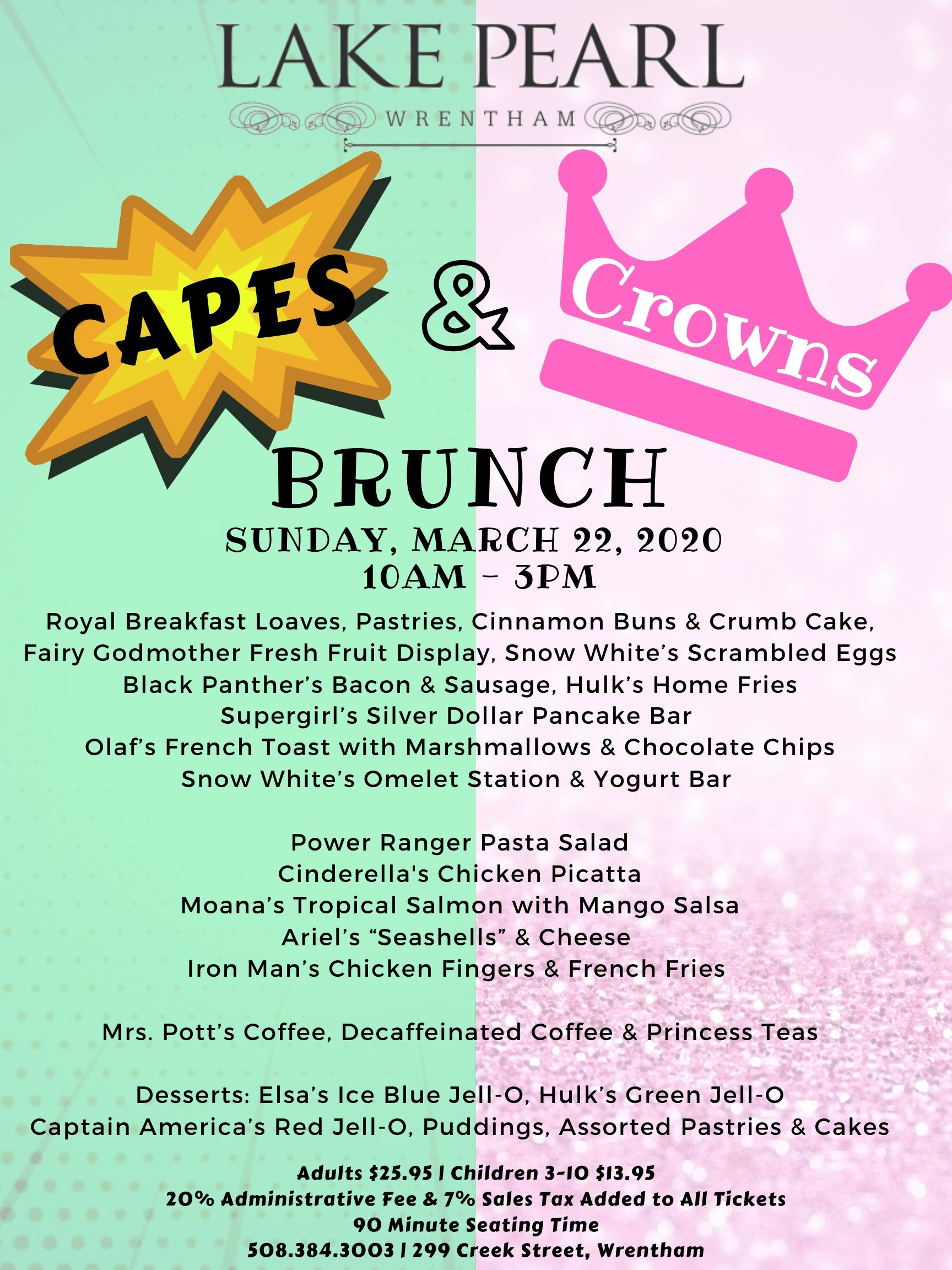 Capes & Crowns Brunch Tickets
