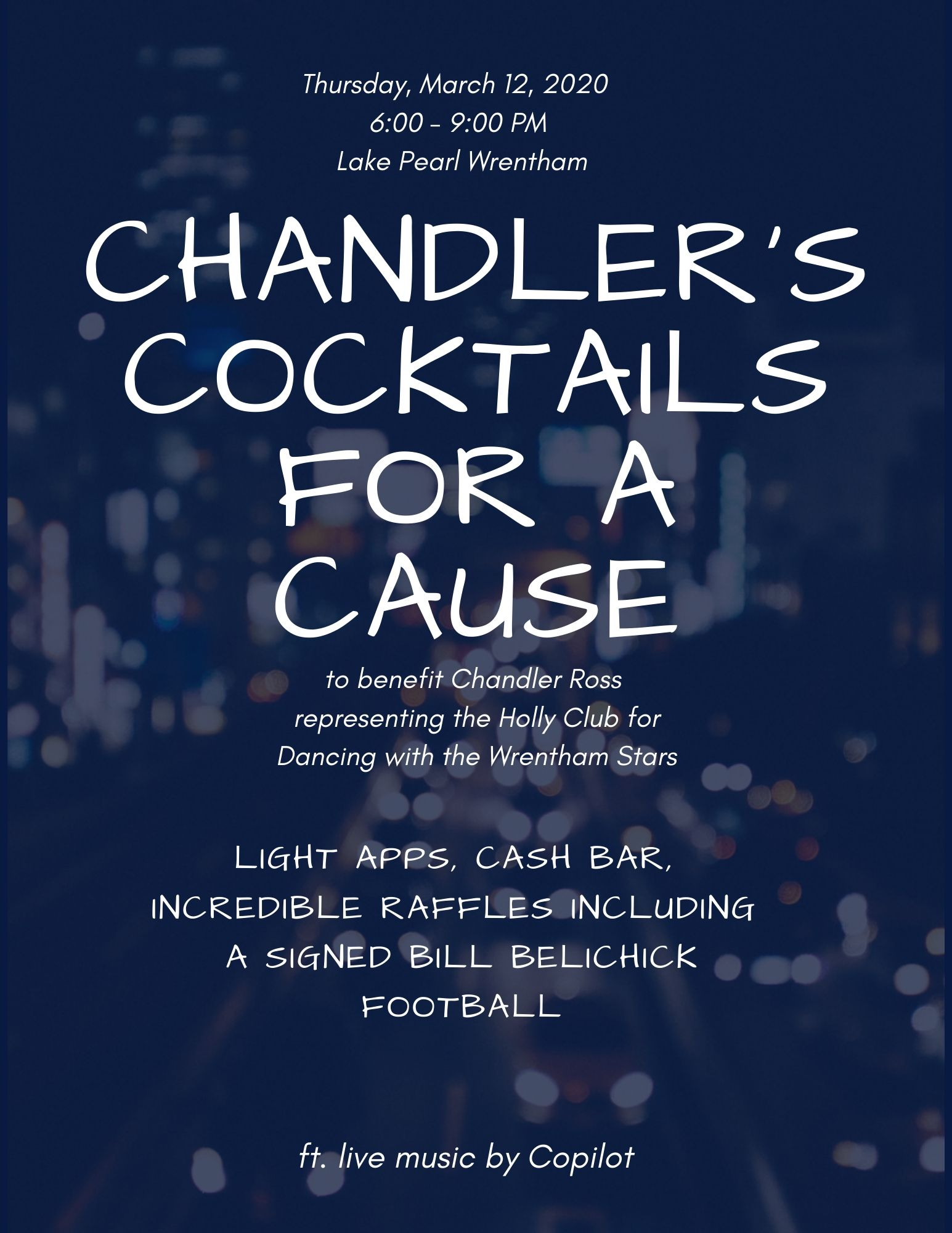 CHANDLER'S COCKTAILS FOR A CAUSE